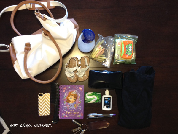 What's in the mom bag? Weekend Edition