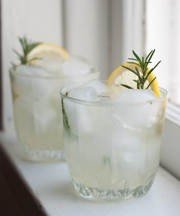 Rosemary Gin Fizz | Cookie + Kate
