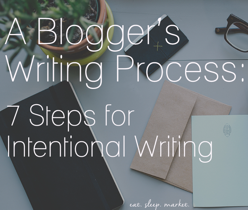A Blogger's Writing Process for Intentional Writing