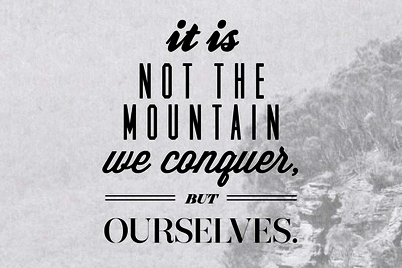 Conquering Ourselves // Strength // Overcoming Fear// Quote